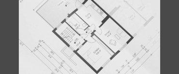 planimetria di progetto di architettura